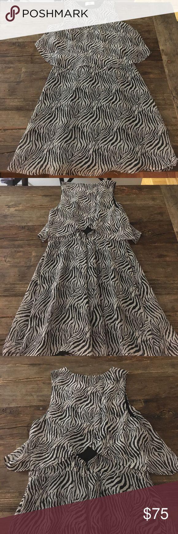 Dolce Vita zebra print dress Dolce Vita zebra print dress Dolce Vita Dresses Midi