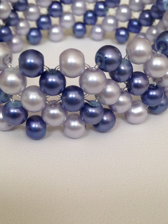 Purple bead stretch bracelet.