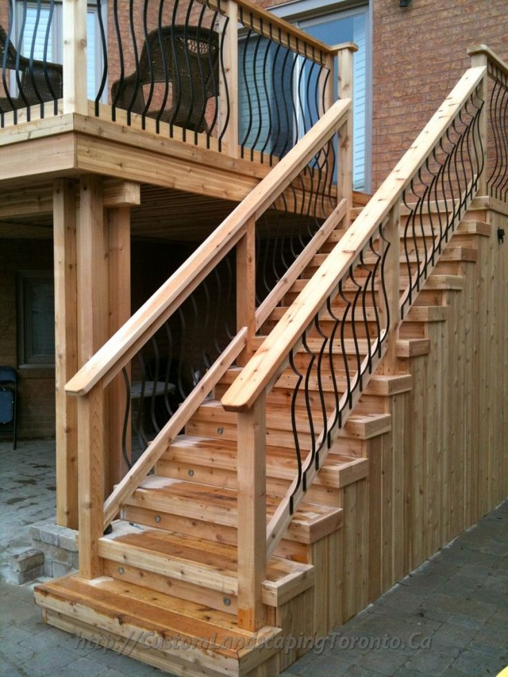 how to build stairs off a high deck