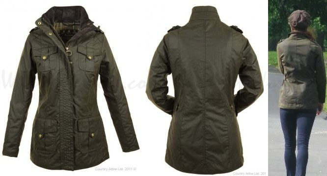 In June Kate wore her Barbour Ladies Defence Jacket for a walk with Lupo and her brother James.