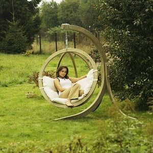 garden swing - i gotta have one of these!: Garden Swings, Ideas, Favorite Places, Outdoor Living, Hammocks, Gardens, Backyard