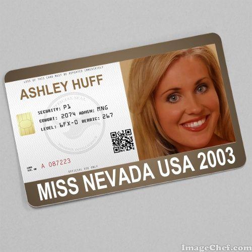 Ashley Huff Miss Nevada USA 2003 card