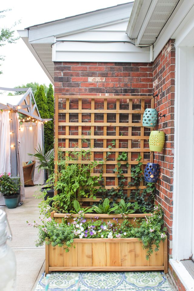Cedar Tiered Planter With Trellis Summer Celebrations