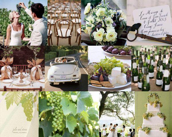préparation de mariage thème les vignes