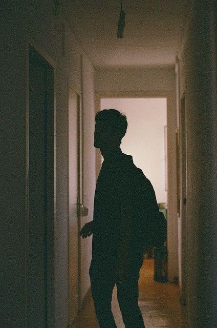 walking down a hallway in the dark    au ideas
