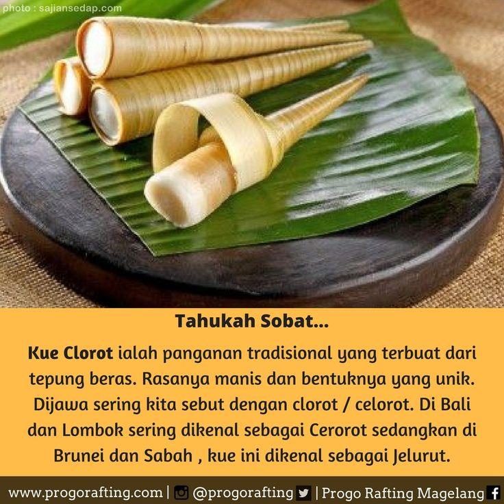 Makanan tradisional yang terbuat dari tepung beras ini, cocok juga untuk mengganjal perut ketika lapar. Rasanya manis dan bentuknya yang unik. Dijawa sering kita sebut dengan clorot / celorot. Di Bali dan Lombok sering dikenal sebagai Cerorot sedangkan di Brunei dan Sabah , kue ini dikenal sebagai Jelurut. www.progorafting.com  Follow juga Sosial Media kami : Instagram :@progorafting Google+ : +PROGO RAFTING MAGELANG Twitter : @progorafting Facebook :Progo Rafting Youtube…