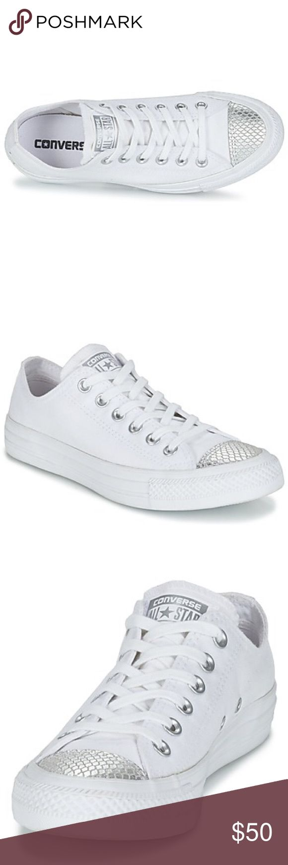 FLASH SALE  CONVERSE WOMENS METALLIC TOECAP New without box Converse Shoes Sneakers