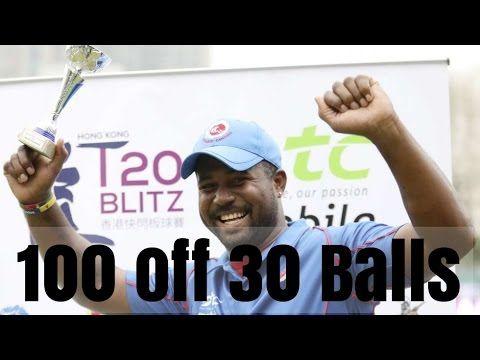 Dwayne Smith 100 Runs Off 30 Balls in Hongkong T20 Blitz _ March 8, 2017