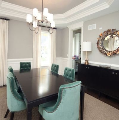 Chicago Grasscloth Dining Room Design, Pictures, Remodel, Decor And Ideas    Page 2