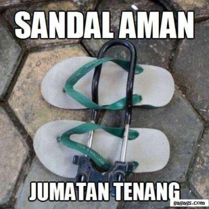 Sandal AMAN ! Jumatan Tenang