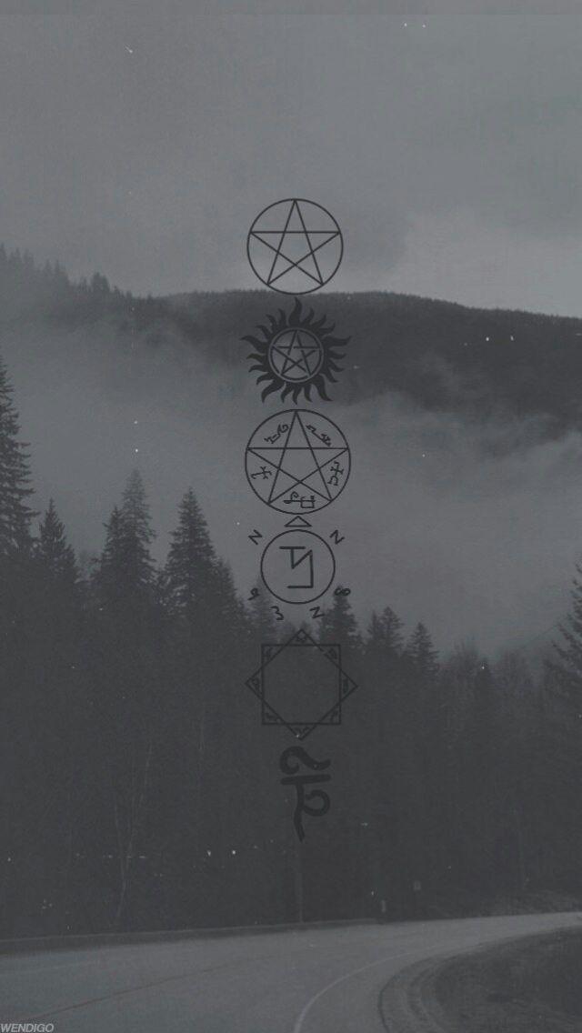 Vikings Wallpaper Iphone X Spn Symbols Fondo Sobrenatural Fondo De Pantalla