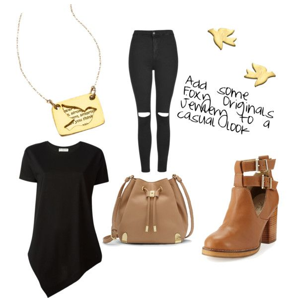Casual Look by brittanypileggi on Polyvore featuring Balenciaga, Topshop, Seychelles, Vince Camuto and Foxy Originals