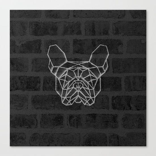 French Bulldog Canvas Print. #geometric #french #bulldog
