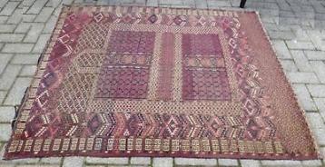 Antiek vloerkleed vintage tapijt Oosters kleed wandkleed