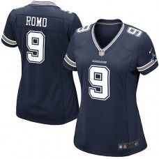 Women's Nike Dallas Cowboys Tony Romo Elite Team Color Jersey