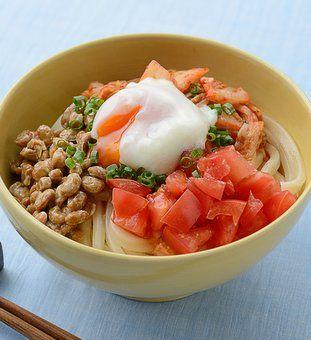 キムトマ納豆うどん(温玉のせ)