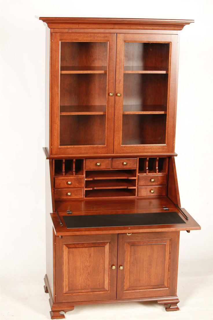 Amish Glenmont Secretary Desk With Hutch Top In 2019
