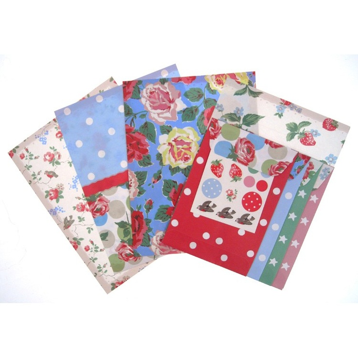 Vintage patterns mix and match for distinctive correspondence.