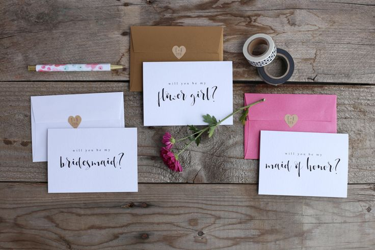 Brautjungfer Vorschlag Karten   Werden Sie meine Brautjungfer   Hochzeits Party Karte Fragen, Flowergirl von GiveItPretty auf Etsy https://www.etsy.com/de/listing/270804168/brautjungfer-vorschlag-karten-werden-sie