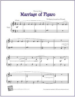52 best harp images on pinterest sheet music harp and music notes marriage of figaro for easy piano solo makingmusicfun fandeluxe Images