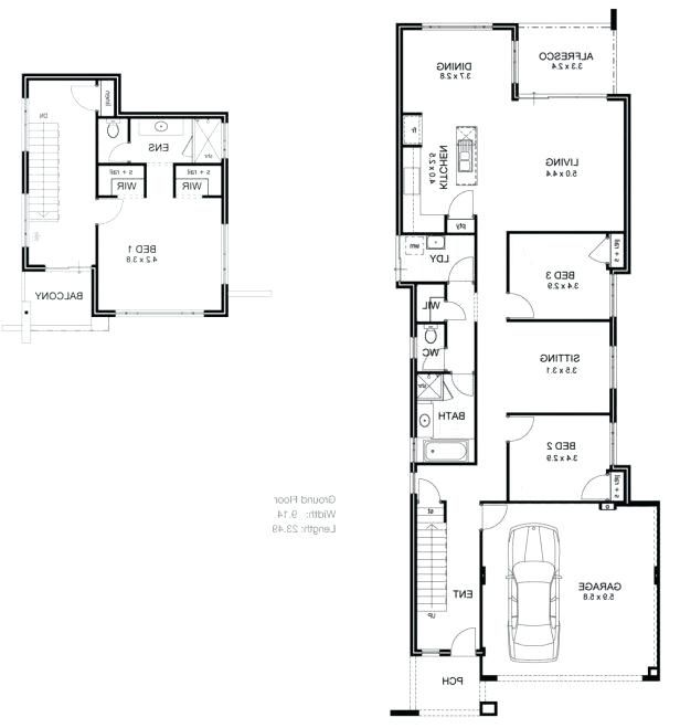 Long Narrow House Plans Awesome Picture Of Long Narrow House Plans Best Design And P Medium Size L Narrow House Plans Home Design Floor Plans Floor Plan Design