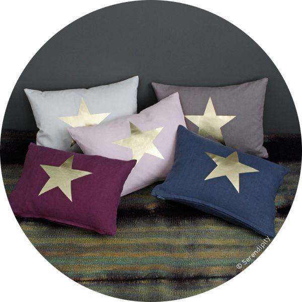 coussin étoile doré .:serendipity.fr:.