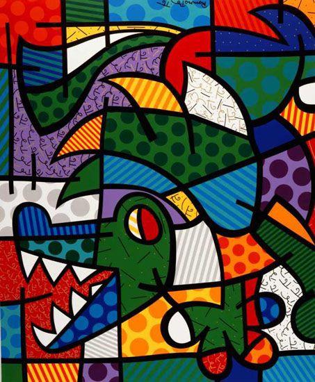 """The Dragon 1997 96"""" x 80"""" Acrylic on Canvas"""