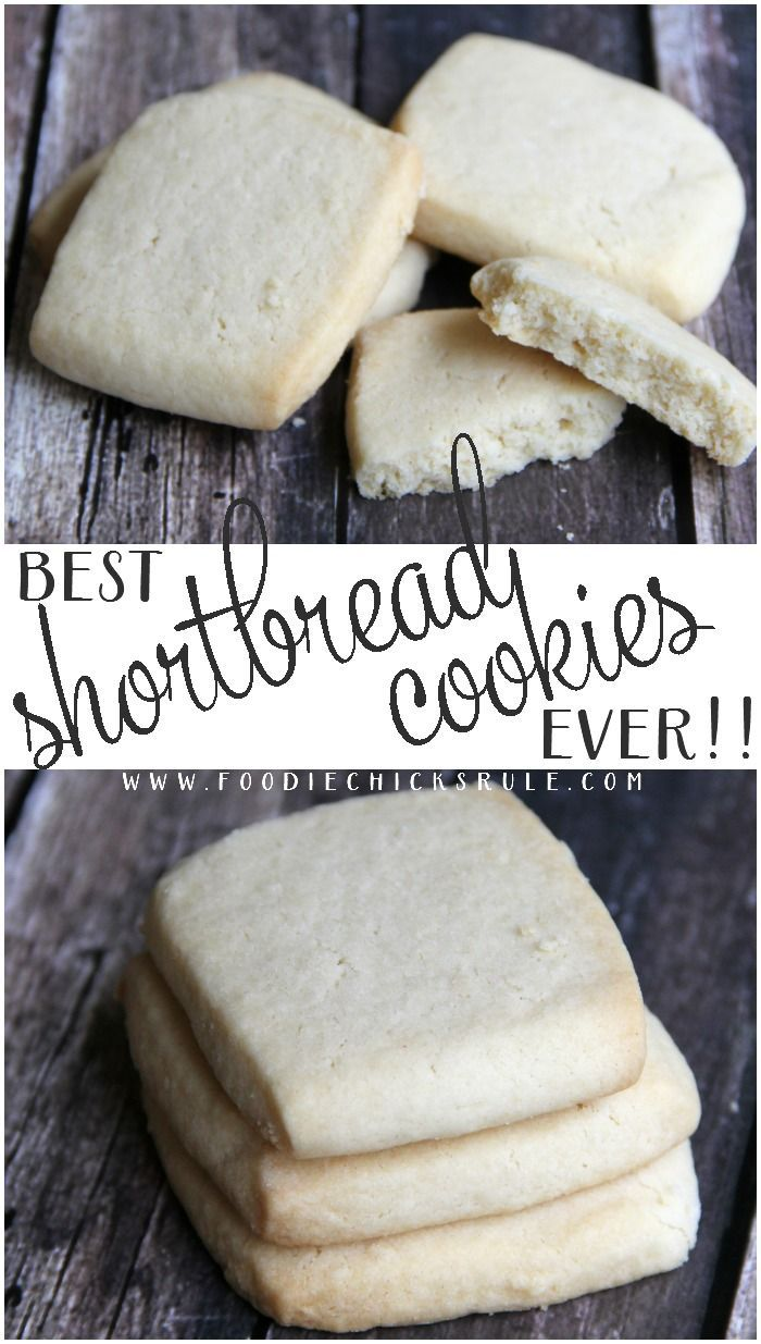 Best Shortbread Cookie Recipe ..... EVER!!!! Really!!! foodiechicksrule.com