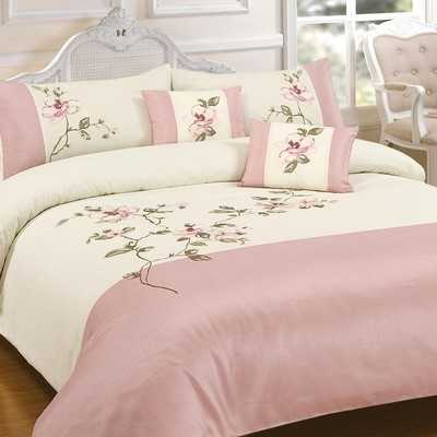 Yeah I bought this :D Laura Pink Embroidered Duvet and Pillowcase set