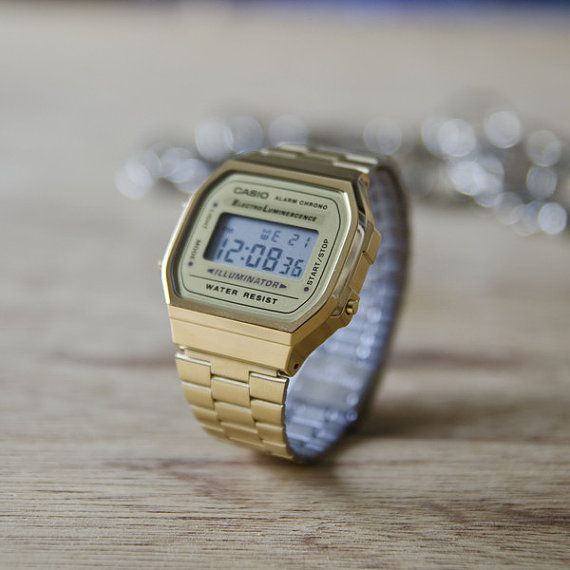 Vintage Casio Illuminator in Gold by Nakedglory on Etsy, $85.00