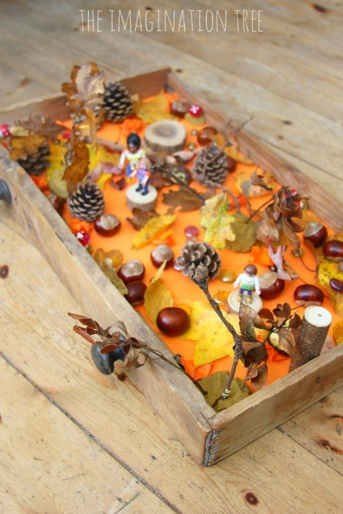 Autumn sensory small world play from The Imagination Tree!