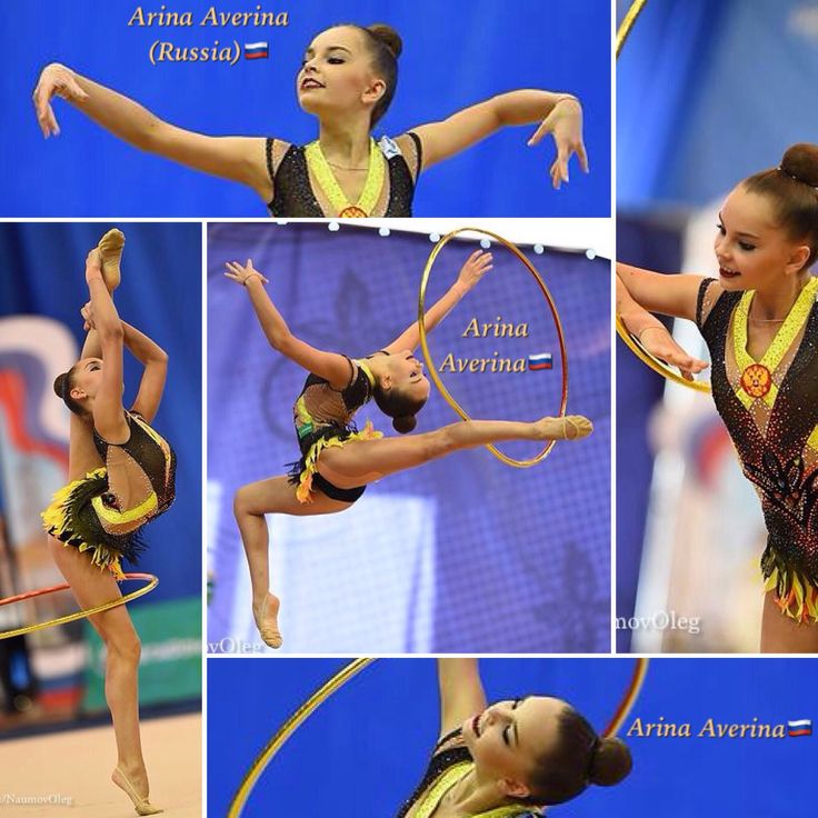 Arina AVERINA (Russia) ~ Collage Hoop routine @ Russian National Championship 03/2017 @ Penza ☘☘  Photographer Oleg Naumov.