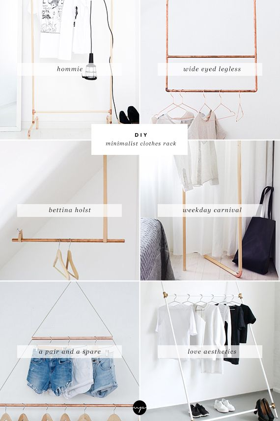 DIY: Minimalist clothes rack