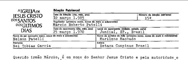 Cópia da Bênção Patriarcal on line