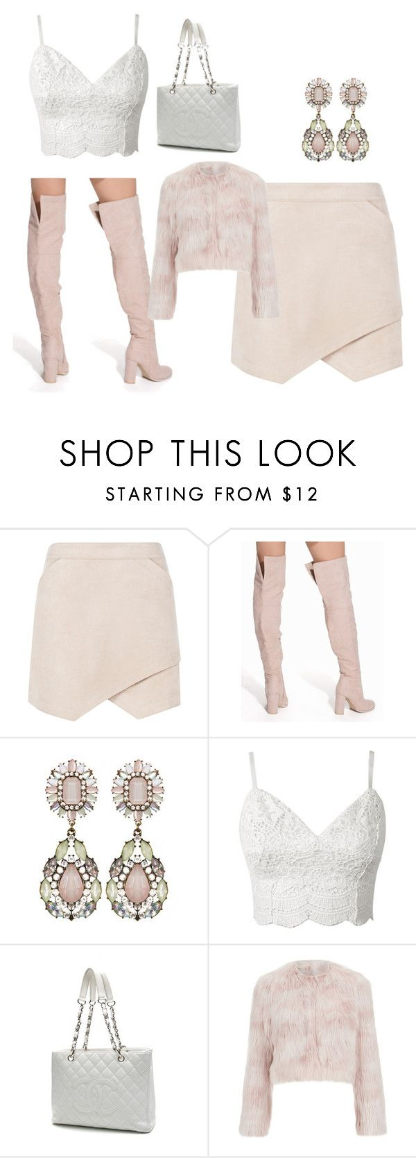 """Untitled #100"" by mariapangal ❤ liked on Polyvore featuring BCBGMAXAZRIA, Nly Shoes, Chanel and RED Valentino"