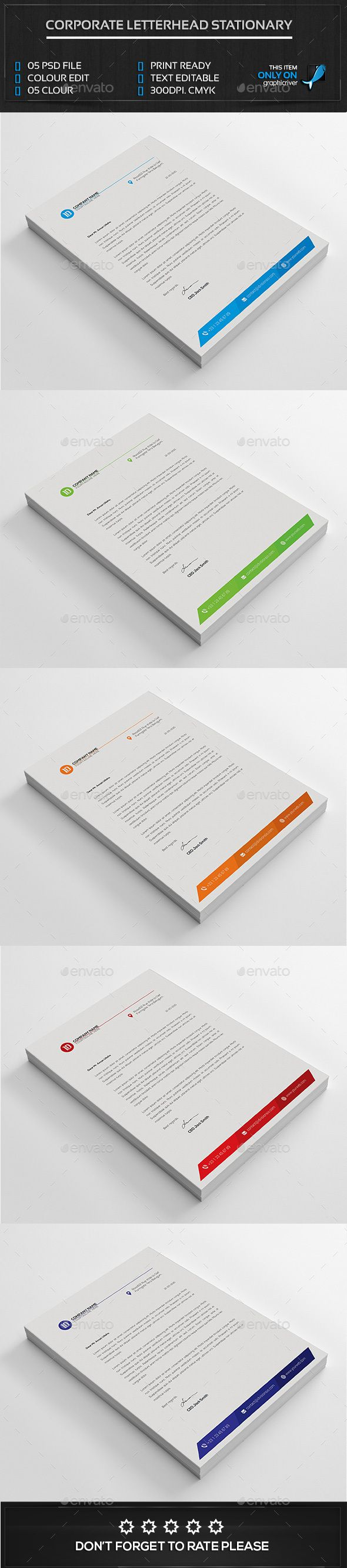 Letterhead Template - Stationery Print Templates  Make for OMS!