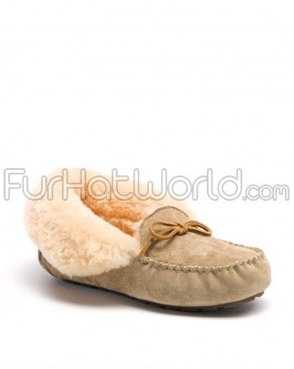 Shop FurHatWorld for the best selection of Women's Slippers & Moccasins. Buy the Ladies Chelsea Shearling Sheepskin Slipper in Sand by FRR with fast same day shipping.