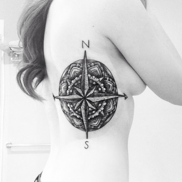 Tattoo rib tattoo arrow tattoo compass tattoo mandala for Side back tattoo