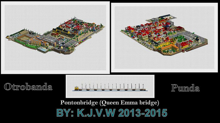Lego Willemstad (Curaçao)  Contains Punda,Otrobanda and the Queen Emma Bridge
