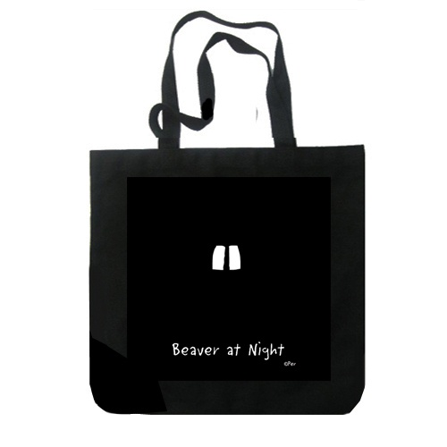 Canvas Bag - Canadian Beaver at Night - Canvas Bag. 100% cotton. 10 oz. Printed in Canada. $12.95