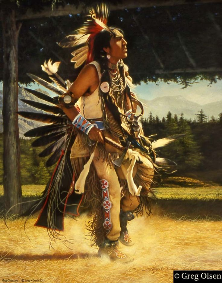 Amerindian Romantic Oil Paintings
