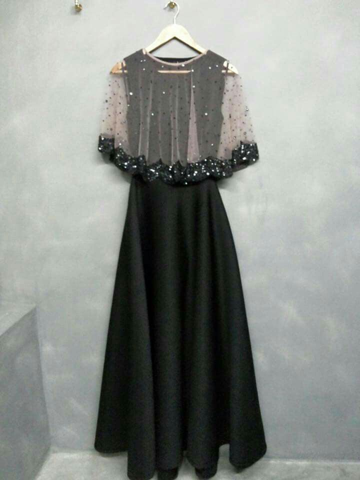 Amazing black gown with cap