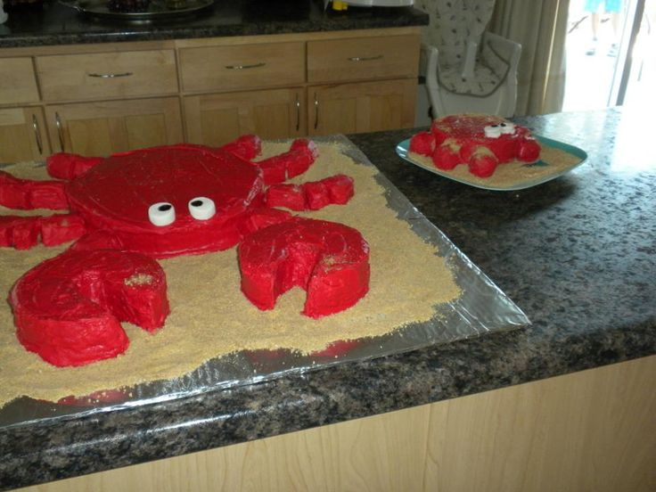 Cael's crab cake for his 1st birthday