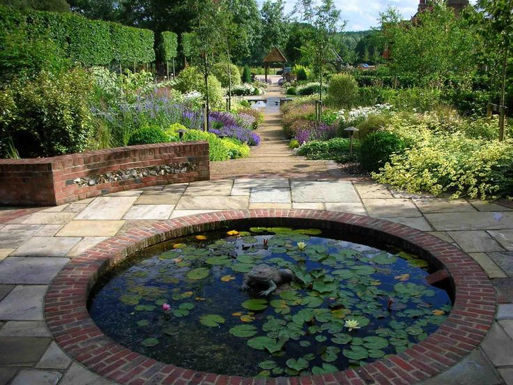 93 best images about garden ideas on pinterest gardens for Square pond ideas