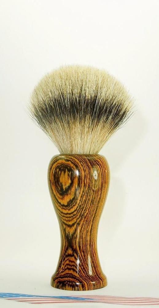 Bethlehem Olive wood- Silver Tip Badger Hair Shaving Brush #Unbranded