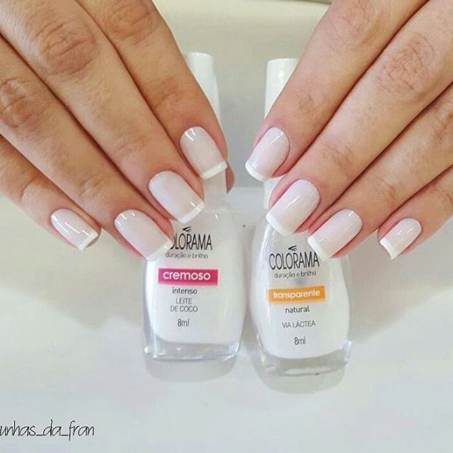 "371 Likes, 8 Comments - Por @ju_costa_adesivos (@unhasjucosta) on Instagram: ""@Regrann from @unhas_da_fran ""Leite de Coco + Via Láctea @esmaltecolorama  Sigam:…"""