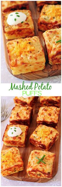 Mashed Potato Puffs...alternative to fries to serve with burgers