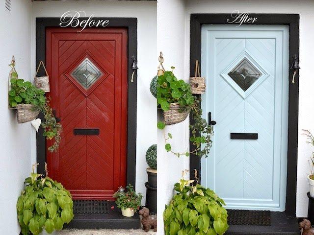 Painting A PCV Front Door Using  Zinsser Bulls Eye Interior U0026 Exterior  Primer Sealer Stain Killer  Dulux Stay White Primer Undercoat  Farrow U0026  Ball Pavilion ...