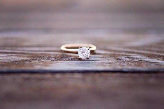 Seriously want. Simple and elegant solitaire engagement ring. <3