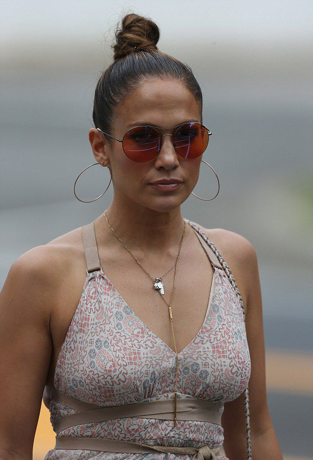 Jennifer Lopez was spotted in the Hamptons.